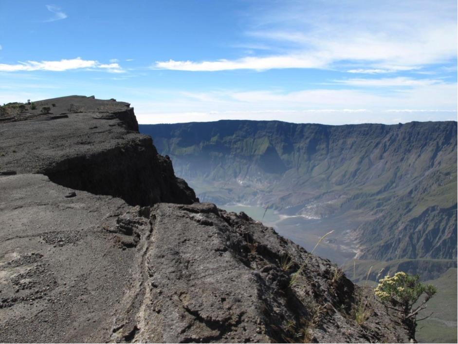 The 1815 summit caldera of Tambora volcano, Sumbawa, Indonesia.
