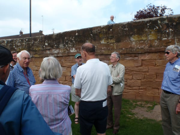 "Group viewing Townpool Bridge - guided walk of ""The Building Stones of Old Kenilworth"""