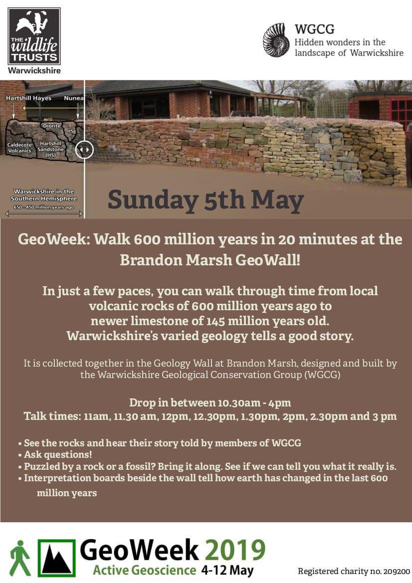 GeoWeek: Walk 600 million years in 20 minutes at the Brandon Marsh GeoWall!