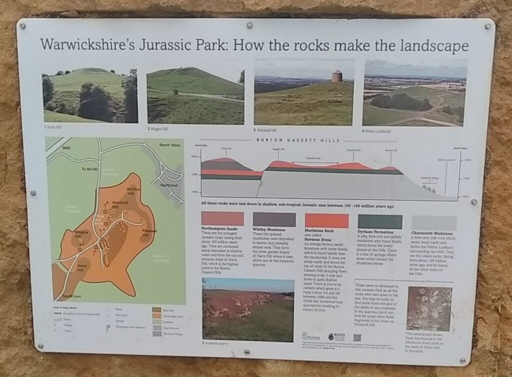 Burton Dassett Hills geology interpretation panel by WGCG